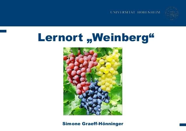 """Lernort """"Weinberg""""  Simone Graeff-Hönninger"""