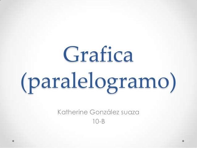 Grafica(paralelogramo)   Katherine González suaza             10-B