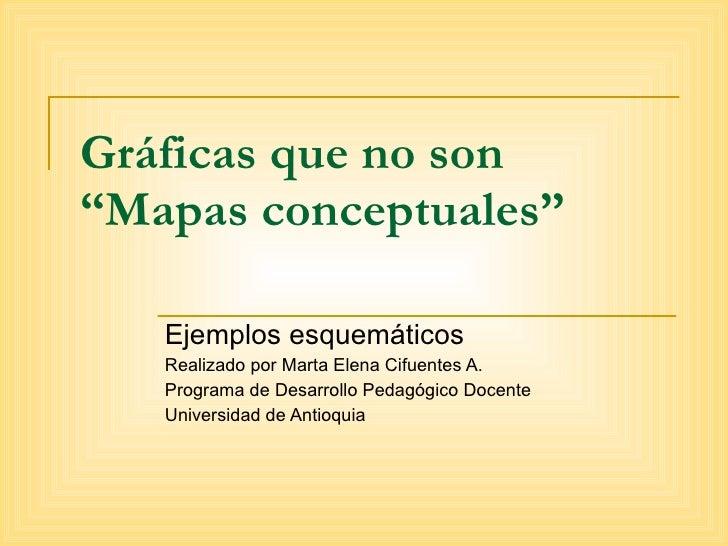 """Gráficas que no son """"Mapas conceptuales"""" Ejemplos esquemáticos Realizado por Marta Elena Cifuentes A. Programa de Desarrol..."""