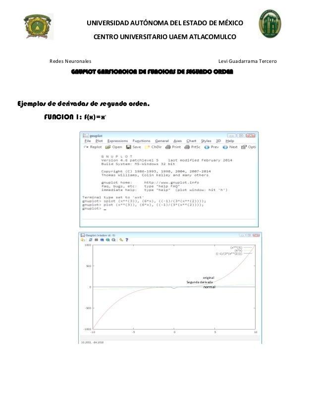 UNIVERSIDAD AUTÓNOMA DEL ESTADO DE MÉXICO  CENTRO UNIVERSITARIO UAEM ATLACOMULCO  Redes Neuronales Levi Guadarrama Tercero...