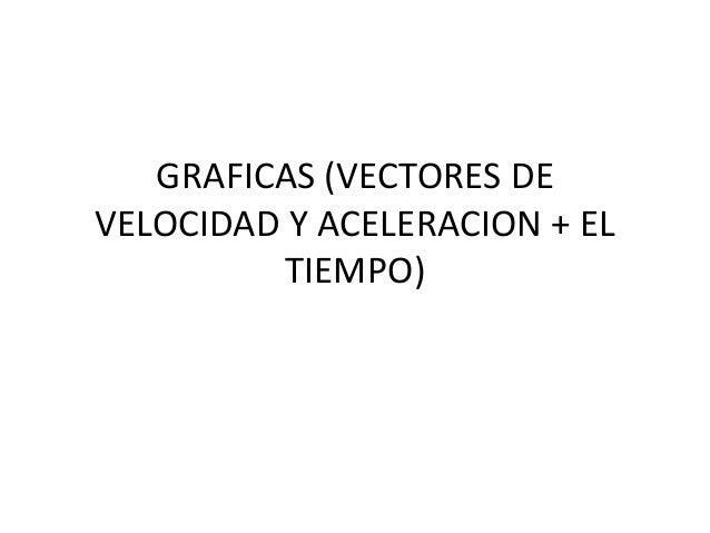 GRAFICAS (VECTORES DEVELOCIDAD Y ACELERACION + EL          TIEMPO)