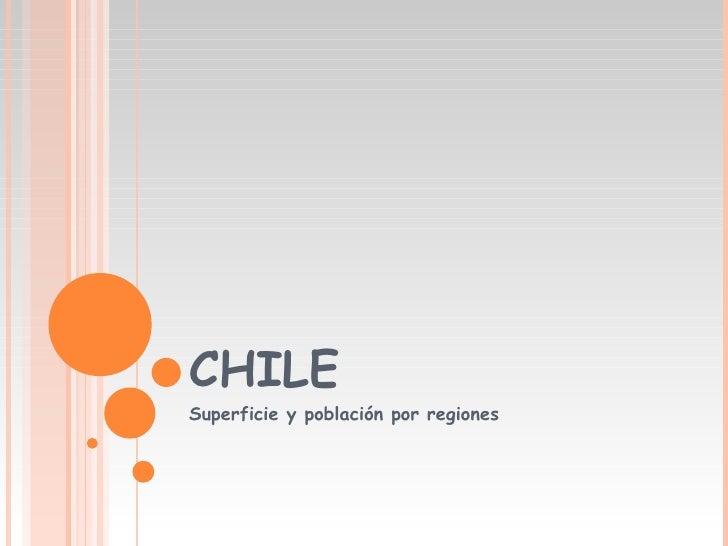 CHILE Superficie y población por regiones