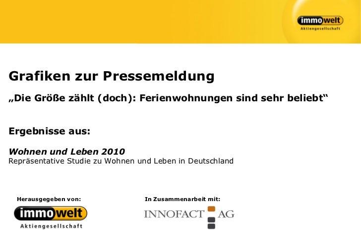 """Grafiken zur Pressemeldung""""Die Größe zählt (doch): Ferienwohnungen sind sehr beliebt""""Ergebnisse aus:Wohnen und Leben 2010R..."""