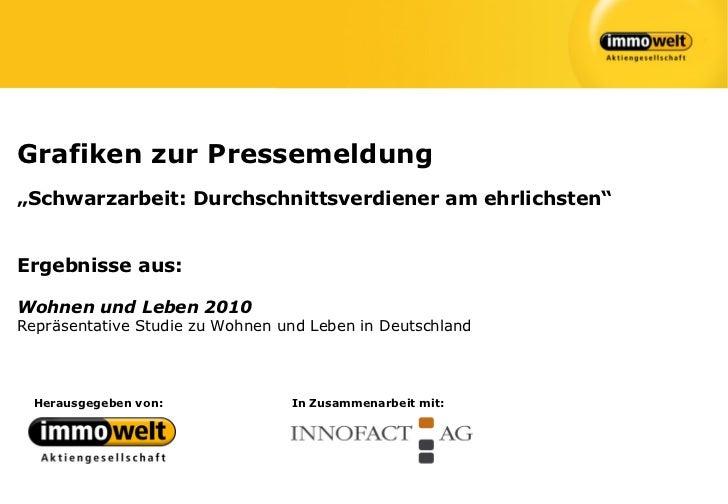 """Grafiken zur Pressemeldung""""Schwarzarbeit: Durchschnittsverdiener am ehrlichsten""""Ergebnisse aus:Wohnen und Leben 2010Repräs..."""