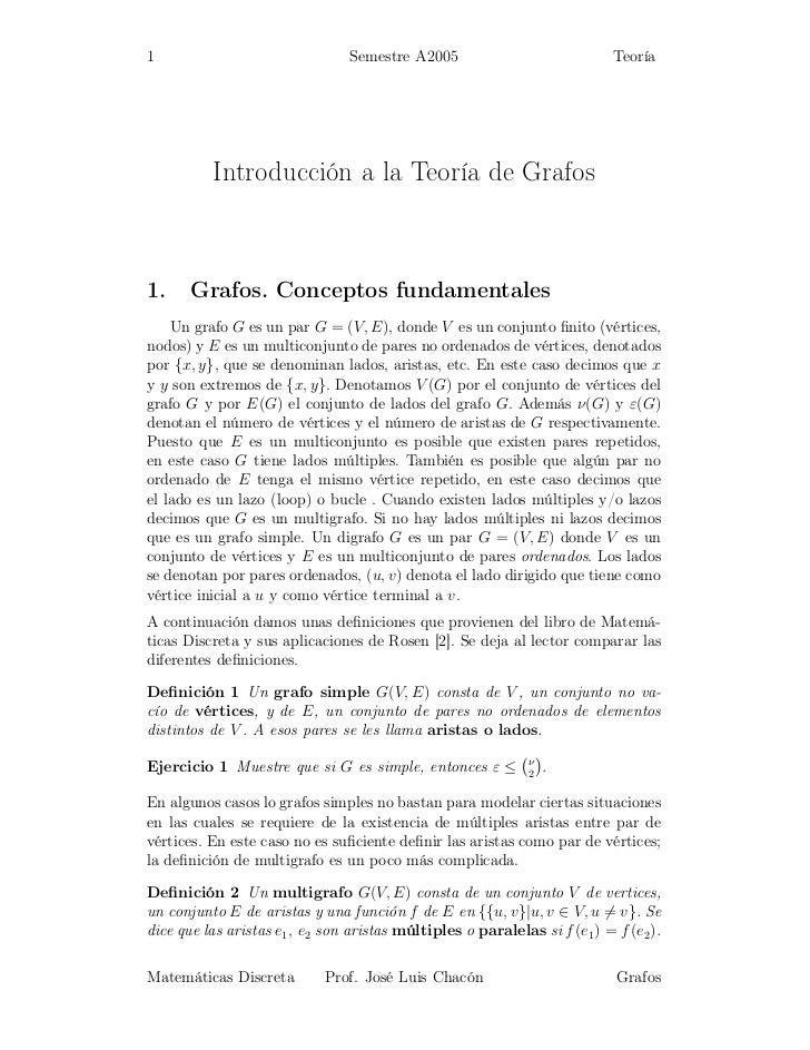 1                                Semestre A2005                             Teoría          Introducción a la Teoría de Gr...