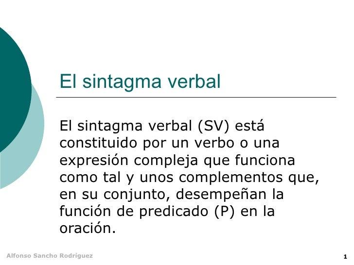SINTAGMA VERBAL - POWER POINT