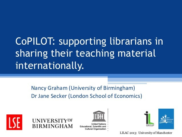 Graham - Sharing information literacy resources globally: the opportunities and challenges of open education