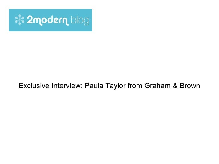 Exclusive Interview: Paula Taylor from Graham & Brown