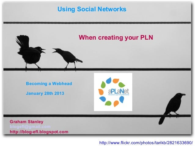 Using Social Networks                               When creating your PLN       Becoming a Webhead       January 28th 201...