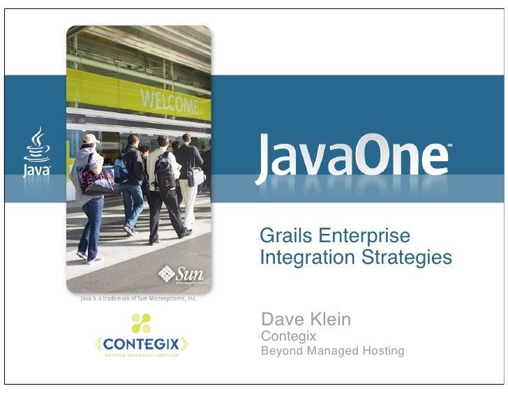 Grails Integration Strategies