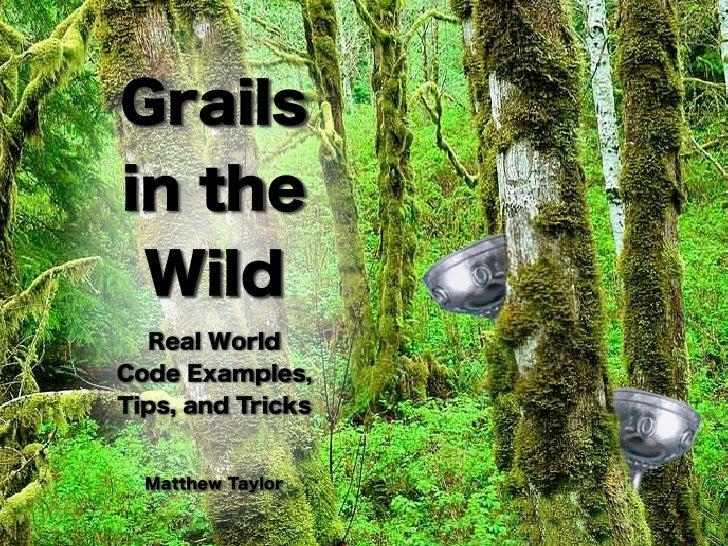 Grails In The Wild
