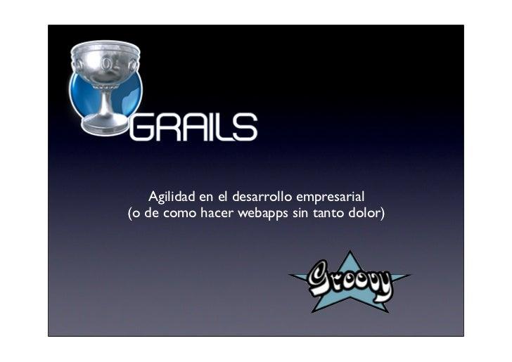 Grails en SG08