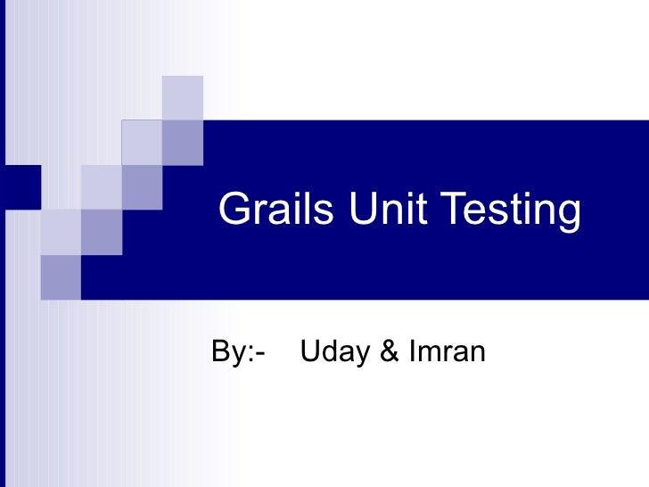 Grails unit testing