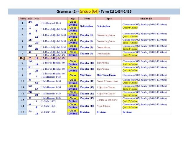 Gram 2 schedule
