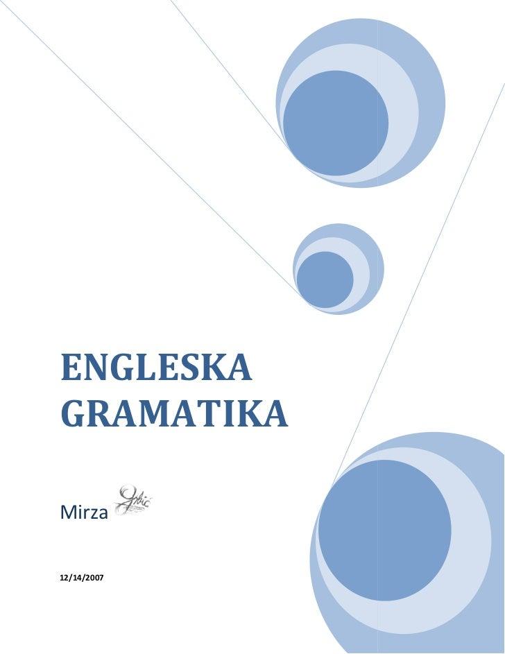Gramatika engleskogjezika