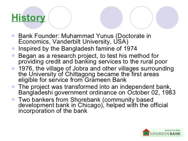 a look into muhammad yunus establishment of the grameen bank