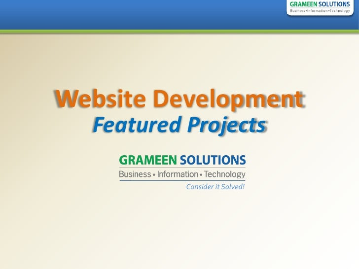 Website Development   Featured Projects             Consider it Solved!