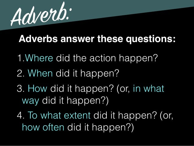 scary adverbs There's some good scary atmosphere, but the action could be much more thrilling some of the verbs and adverbs need changing that's where you come in let's begin.