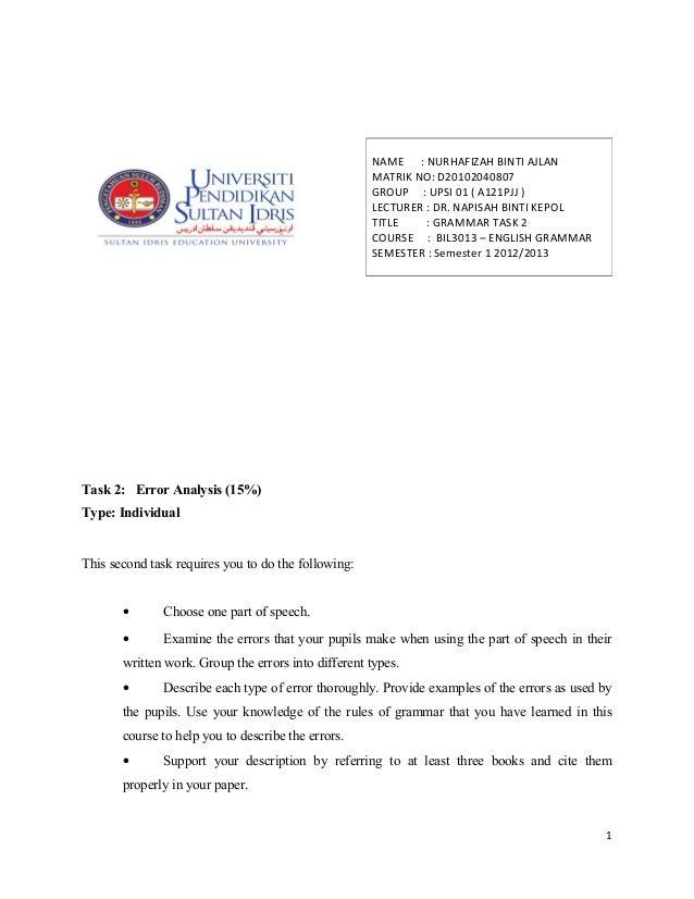 NAME : NURHAFIZAH BINTI AJLAN                                                     MATRIK NO: D20102040807                 ...