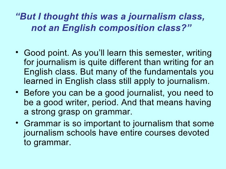 Doing a paper on 'new journalism' for my English class. What should I write about?