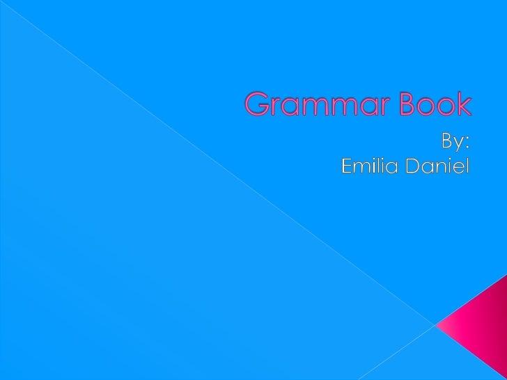 Grammar book emilia