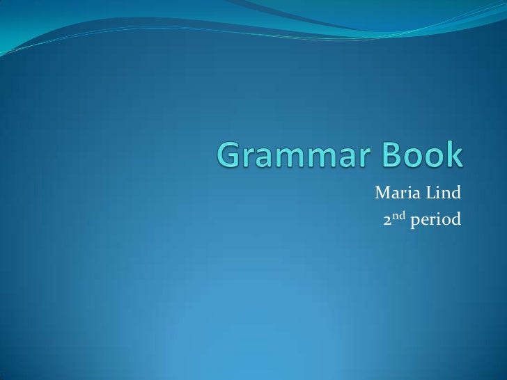 Grammar book final
