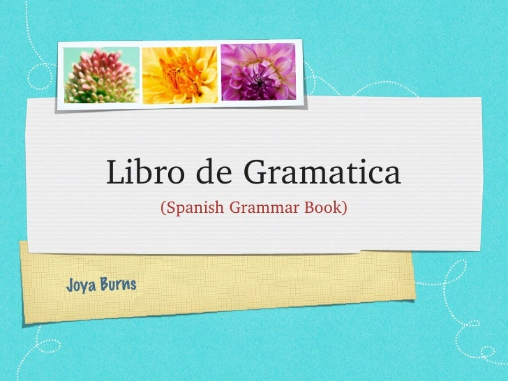 Libro de Gramatica             (Spanish Grammar Book)Joya Burns