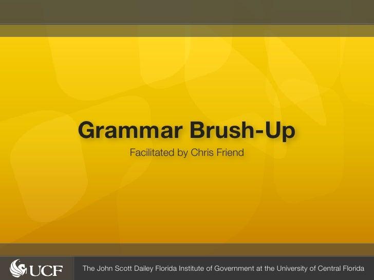 Grammar Brush-Up