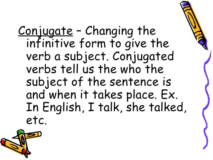Definition conjugated