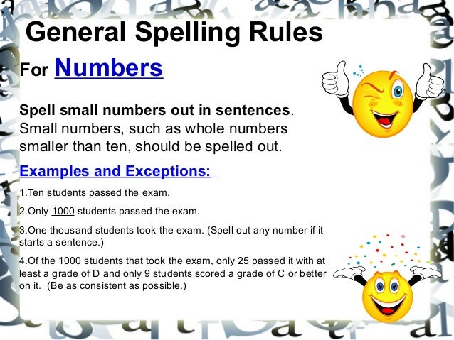 rules for spelling out numbers in an essay