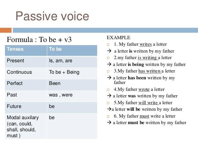 active and passive voice formula pdf