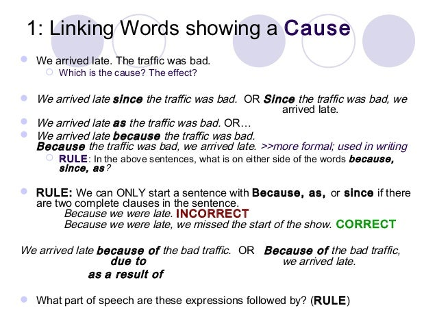 Linking words?