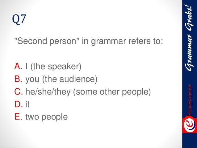 Person Persons Grammar q7 Second Person in Grammar