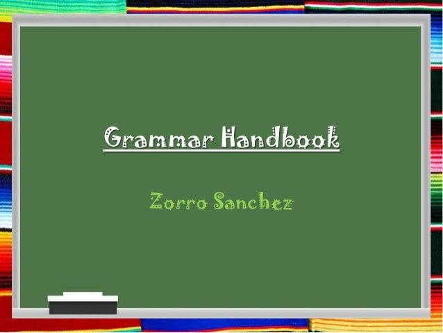 Grammar Handbook Zorro Sanchez