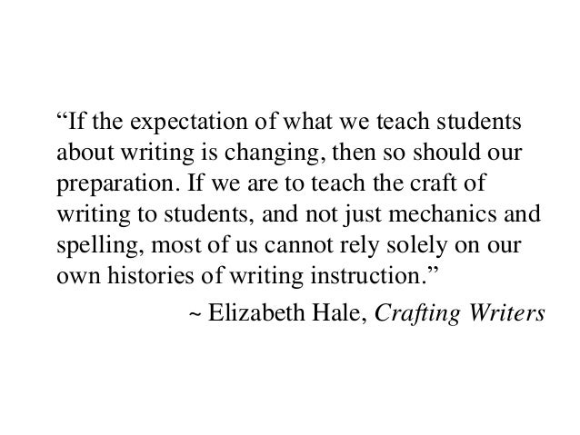 """If the expectation of what we teach students about writing is changing, then so should our preparation. If we are to teac..."