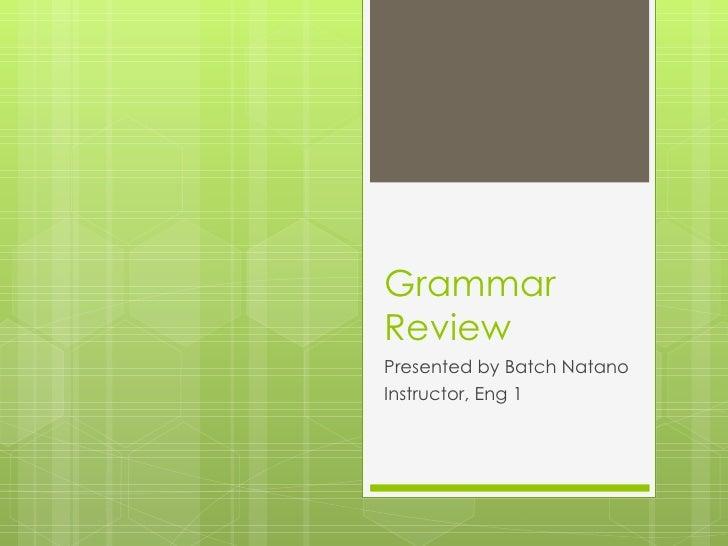 Grammar review