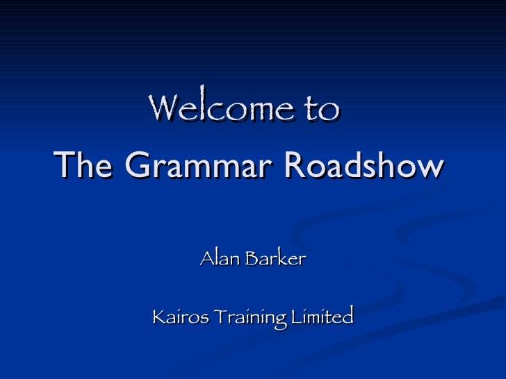 Grammar Roadshow Slides