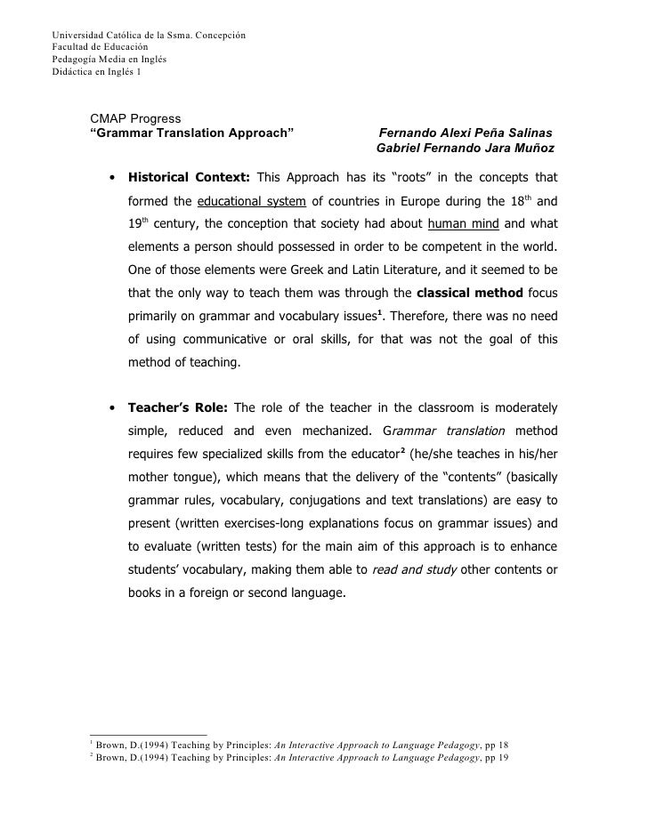 Universidad Católica de la Ssma. ConcepciónFacultad de EducaciónPedagogía Media en InglésDidáctica en Inglés 1        CMAP...