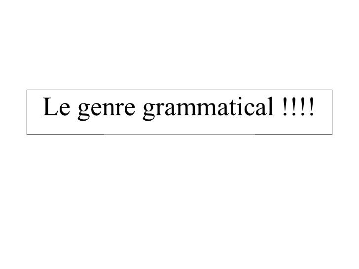 Grammatical La Le Ja