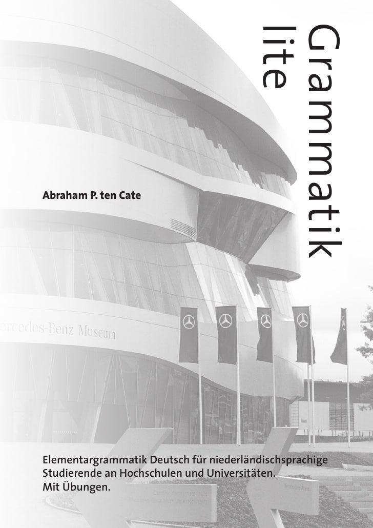 lite                                       Grammatik Abraham P. ten Cate     Elementargrammatik Deutsch für niederländisch...