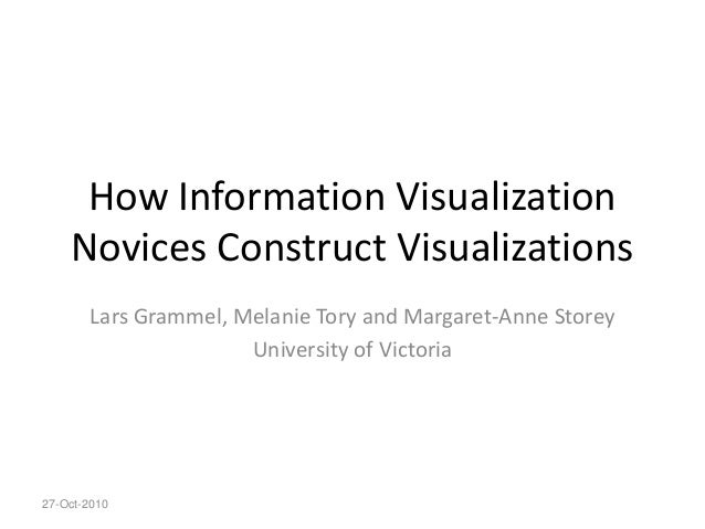 How Information Visualization Novices Construct Visualizations Lars Grammel, Melanie Tory and Margaret-Anne Storey Univers...
