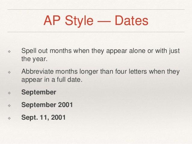 Ap style dates