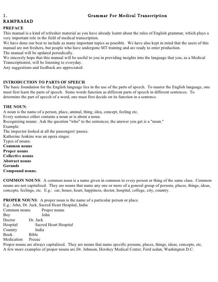Medical Chart Notes Medical Transcription Chart