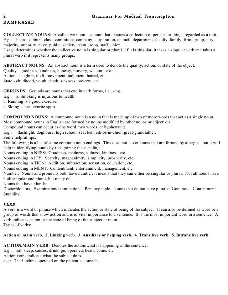 Medical Transcription Editor Resume