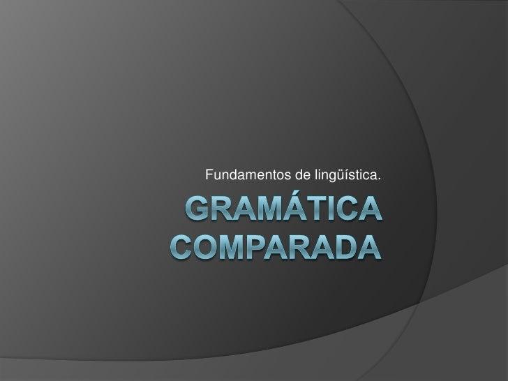 Gramática comparada