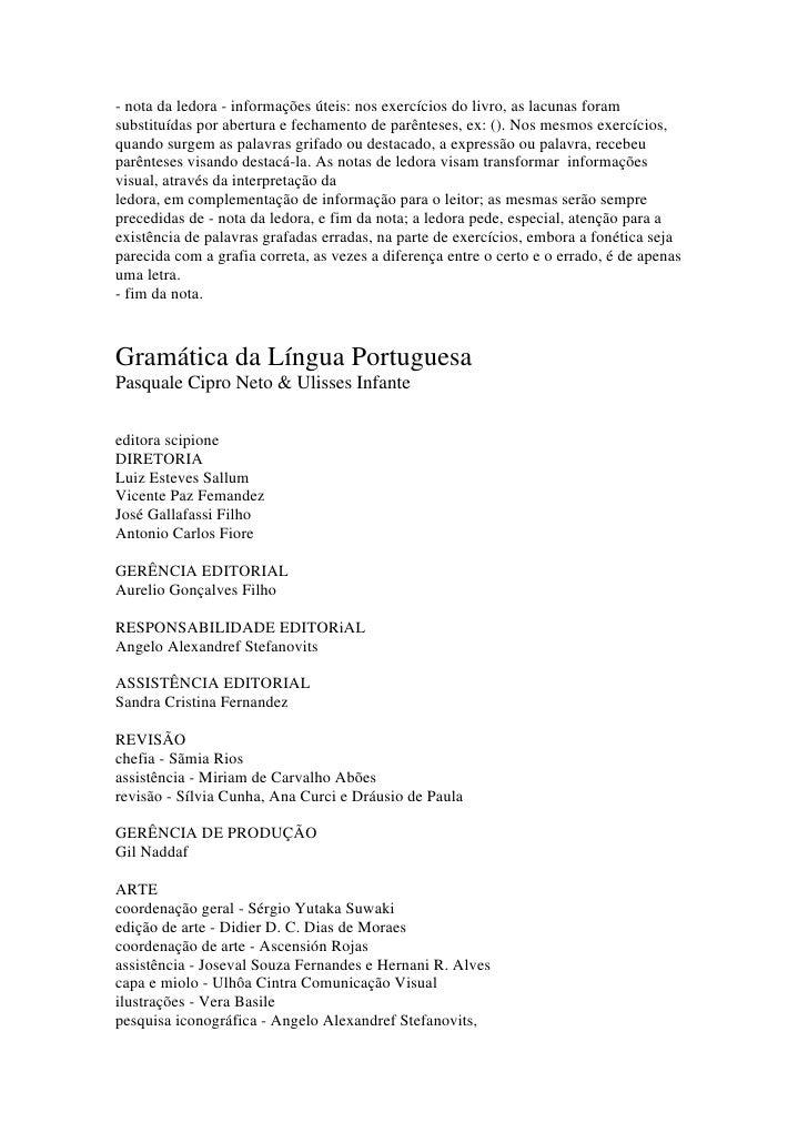 - nota da ledora - informações úteis: nos exercícios do livro, as lacunas foramsubstituídas por abertura e fechamento de p...