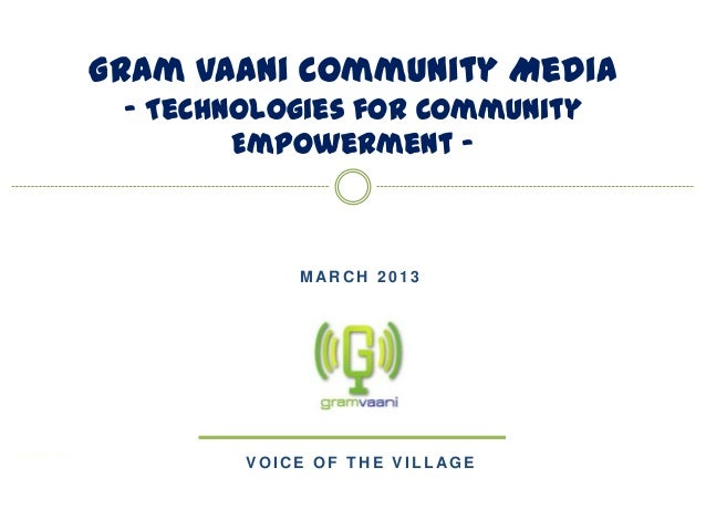 Gram vaani's work on community engagement