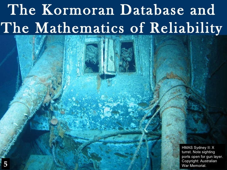 Finding HMAS Sydney Chapter 5 - Kormoran Database & the Mathematics of Reliability