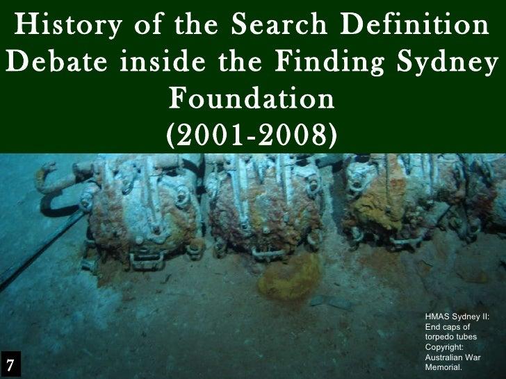 HMAS Sydney II: End caps of torpedo tubes Copyright: Australian War Memorial. History of the Search Definition Debate insi...