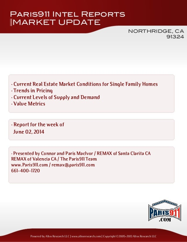 Granada Hills and Northridge real estate update Single Family Homes